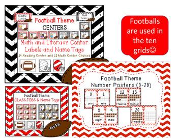 FOOTBALL THEME Classroom Decor Bundle