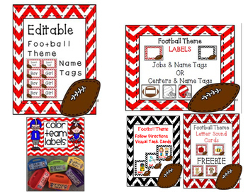 FOOTBALL THEME Classroom Decor Bundle