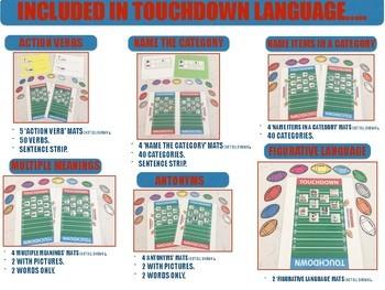 FOOTBALL TOUCHDOWN LANGUAGE (SPEECH & LANGUAGE THERAPY)