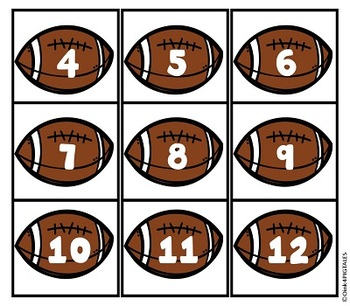 Football Classroom Set for Back to School