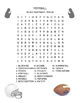 FOOTBALL Word Search - January - 3 levels - Superbowl - Early Finisher