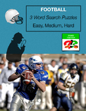 FOOTBALL Word Search - January - 3 levels - Superbowl - Ea