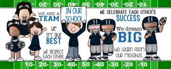 FOOTBALL {melonheadz} - Class Decor: LARGE BANNER, In Our School - horizontal