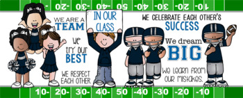 FOOTBALL {melonheadz} - Classroom Decor: LARGE BANNER, In Our Class - horizontal