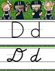 FOOTBALL theme - Alphabet Cards, Handwriting, ABC print and D'Nealian Cursive