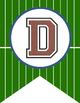 FOOTBALL theme - Alphabet Flags, CREATE a BANNER, turf pattern, classroom decor
