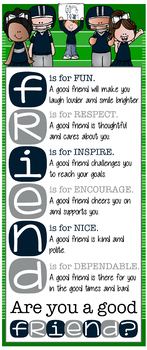 FOOTBALL theme - Classroom Decor: LARGE BANNER, Are you a good FRIEND