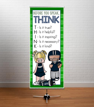 FOOTBALL theme - Classroom Decor: LARGE BANNER, Before You Speak