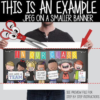 FOOTBALL theme - Classroom Decor: LARGE BANNER, In Our Class - horizontal