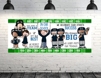 FOOTBALL theme - Classroom Decor: LARGE BANNER, In Our School - horizontal