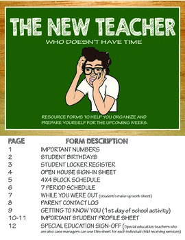 FOR THE NEW TEACHER WHO DOESN'T HAVE TIME!!!!