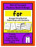 FOR - Word Fluency Book & Emotion Bingo - Sight Word Focus