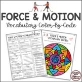 FORCE & MOTION Color-By-Code Vocabulary Review