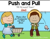 All Around Town {Push and Pull Sort Sheet} for Kindergarten & First Grade