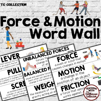 FORCE & MOTION WORD WALL - From the TC Collection
