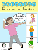 Force and Motion: Push & Pull {Cards for Sorting} Science Kindergarten & First