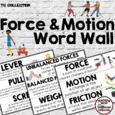 FORCE and MOTION WORD WALL Science Vocabulary