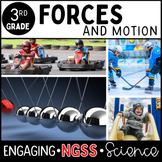 FORCE AND MOTION - 3rd GRADE - Complete Unit NO PREP ***NGSS ALIGNED ***