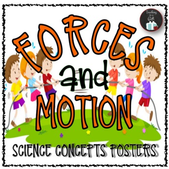 FORCES CAUSING MOVEMENT Science Concepts Posters