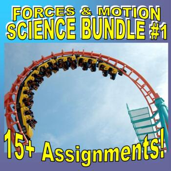 FORCES & MOTION Bundle #1 (10+ Assignments / 40+ Pages)