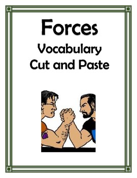 FORCES VOCABULARY CUT AND PASTE