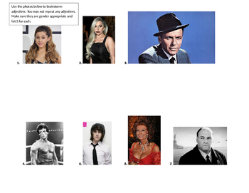 FOREIGN LANGUAGE CELEB PICS FOR ADJECTIVE PRACTICE
