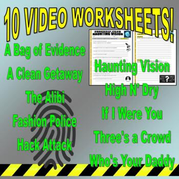Forensic Files : Bundle Set #23 (video worksheets and more) / No Prep