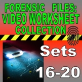 FORENSIC FILES SET COLLECTION #4 (Medical Detectives / 50 Science Video Sheets)