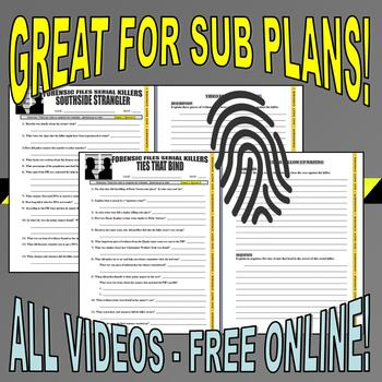 FORENSIC FILES SERIAL KILLER BUNDLE (12 Video Worksheets)