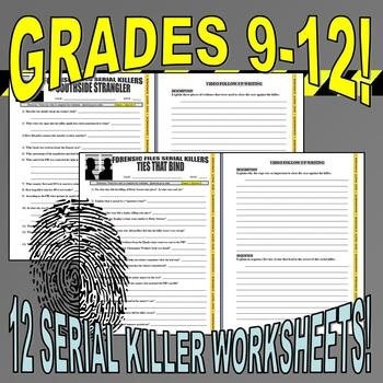 FORENSIC FILES - SPECIAL CASES BUNDLE (36 Video Worksheets)