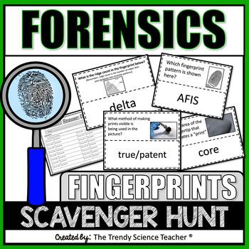 FORENSICS ACTIVITY: FINGERPRINT SCAVENGER HUNT