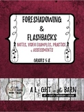 FORESHADOWING & FLASHBACKS with DISTANCE LEARNING Fillable Worksheets