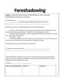 FORESHADOWING WORKSHEET- 2 LEVELS!!!
