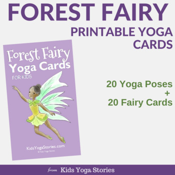 forest fairy yoga cards for kidskids yoga stories  tpt