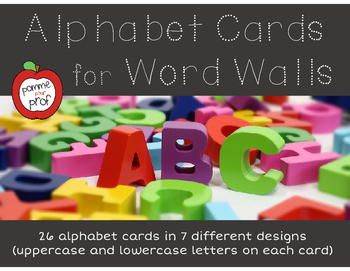 FOREVER FREEBIE: Alphabet Cards for Word Wall (uppercase and lowercase letters)