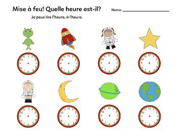 FOREVER FREEBIE: Quelle heure est-il? Edition: Espace (French Time Centre)