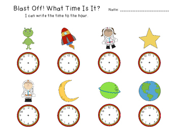 FOREVER FREEBIE: What Time Is It? Space Edition (Gr. 1 - Measurement)