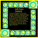 FORM(A/B) Dance + Visual + Aural (in limited space)~Smartboard