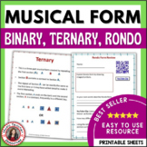 Music Form: FORM in MUSIC: Binary, Ternary and Rondo