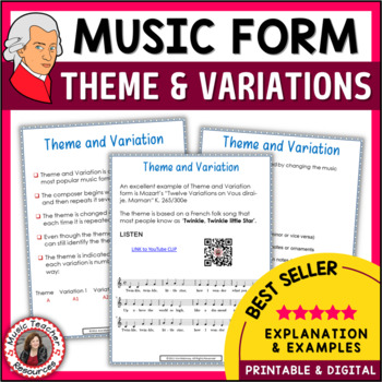 Music Form: Theme and Variations Form in Music