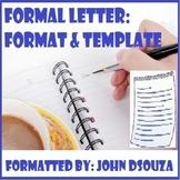 FORMAL LETTER FORMAT: HANDOUT
