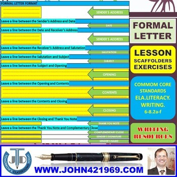 formal letter writing lesson and resources