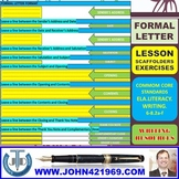 FORMAL LETTER WRITING: LESSON AND RESOURCES