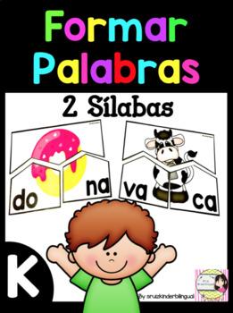 FORMAR PALABRAS 2 Syllable Puzzle