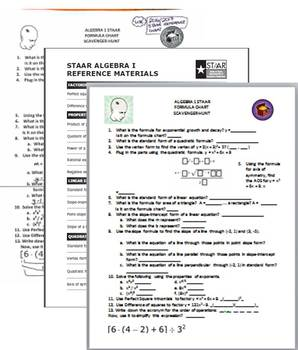 FORMULA CHART SCAVENGER HUNT by TeachingMath | Teachers Pay