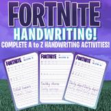 FORTNITE - A to Z Handwriting Program