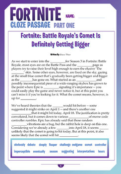 FORTNITE - CLOZE PASSAGES - Battle Royale Comet - 2 Connected Activities
