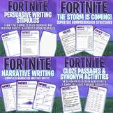 FORTNITE - LITERACY MEGA BUNDLE - 6 Units of Work - 95 PAGES