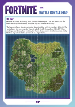 FORTNITE - MATHS - COORDINATE PLANE ACTIVITY CARDS - 48 Question Cards!