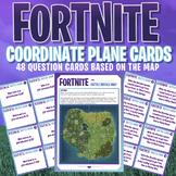 FORTNITE - MATHS - COORDINATE PLANE ACTIVITY CARDS - 48 Qu